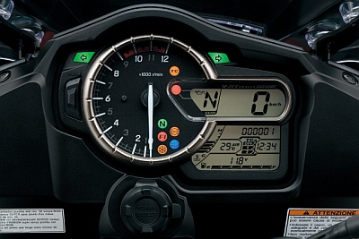 Multifunktionsdisplay der V-Strom 1000 ABS